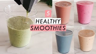 5 Quick & Healthy Smoothie Recipes For Breakfast 🍓🍌