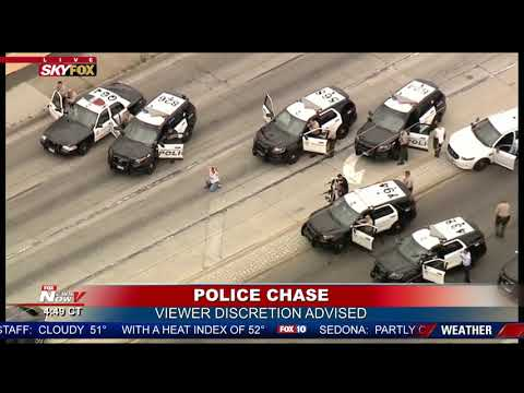 GRAPHIC ENDING To Police Chase in California