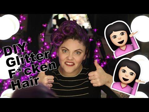 DIY Glitter Victory Rolls, Corinne vs Beauty #2