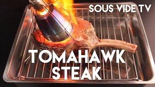Sous Vide Tomahawk Ribeye Steak With Searzall Finish