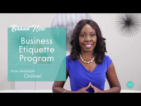 On-line Etiquette Courses Swann School of Protocol - YouTube