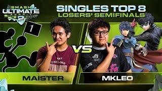 Maister Vs MkLeo   Singles: Losers Semifinals   Ultimate Summit 2 | Game & Watch Vs Marth, Joker