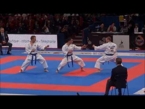 Team Kata + Bunkai GOJUSHIHO SHO by France National Team - 21st WKF World Karate Championships