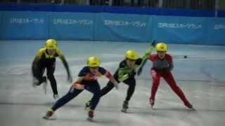 少年男子500m準決勝2組-第68回国民体育大会冬季大会ショートトラック