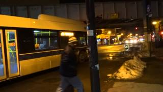 preview picture of video 'MTA New York City Bus: New Flyer XD40 #7093 & #4832 Q56 @ Jamaica Avenue & Lefferts Boulevard!'