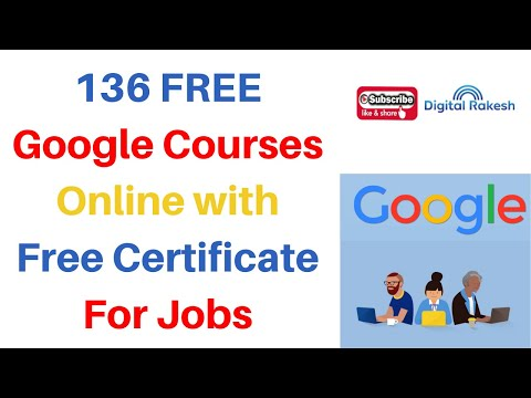 136 FREE Google Courses Online with Free Certificate For Jobs 2020