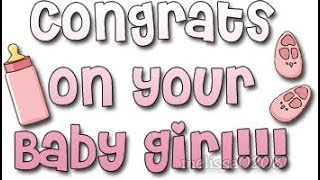 🎀👶 CONGRATS ON YOUR NEW BABY GIRL! 👶🎀(E-Card Category: Congrats)