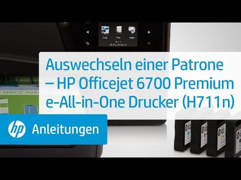 Auswechseln einer Patrone – HP Officejet 6700 Premium e-All-in-One Drucker (H711n)
