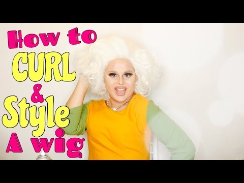 HOW TO CURL AND STYLE A WIG | DRAG QUEEN WIG STYLING | JAYMES MANSFIELD