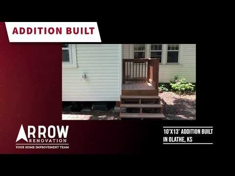 Arrow built a 10 x 13 foot addition to an existing home in Olathe, KS.