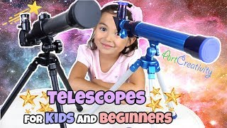 Telescopes for Kids and Beginners | How to Use Telescopes | ArtCreativity and Family Time Unwrapped