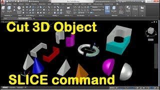 How to Cut a 3D Object in AutoCAD using Slice Command
