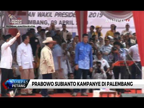 Prabowo Subianto Kampanye di Palembang