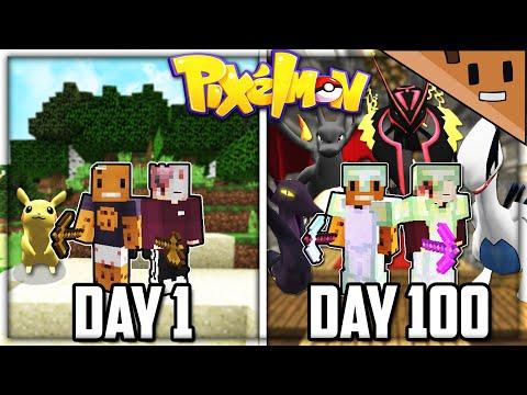We Spent 100 Days in Minecraft PIXELMON... Here's What Happened (Duo Minecraft)