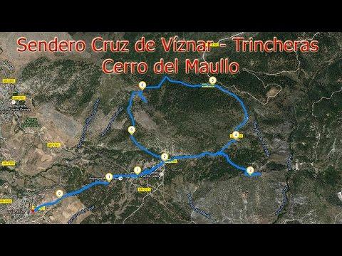 Sendero Cruz de Víznar - Trincheras Cerro del Maúllo (Víznar, Granada)