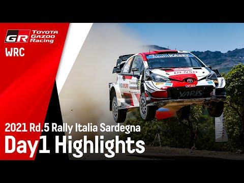 WRC 2021 第5戦ラリー・イタリア ToyotaGazooRacingのDay1ハイライト動画