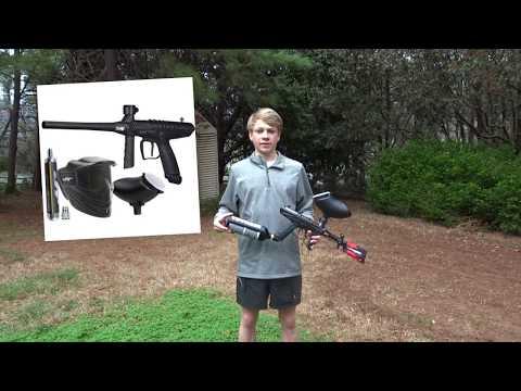 Tippmann Gryphon fx paintball gun REVIEW + GAME PLAY (BACKYARD PAINTBALL)
