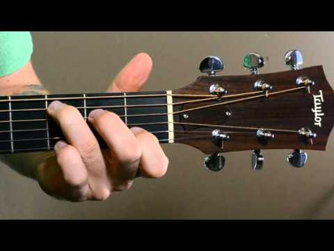 Guitar Chord Transitions G, Cadd9, Em7, Dsus4