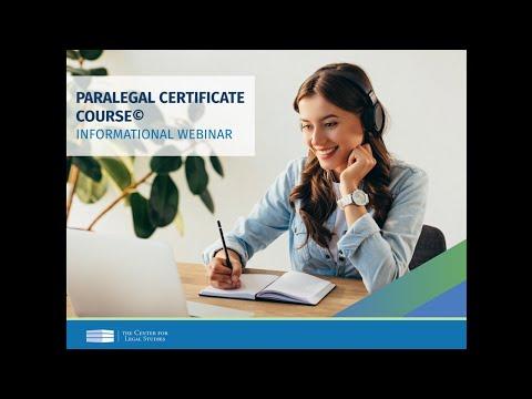 Paralegal Certificate Course© Webinar (December 2020) | The Center for Legal Studies