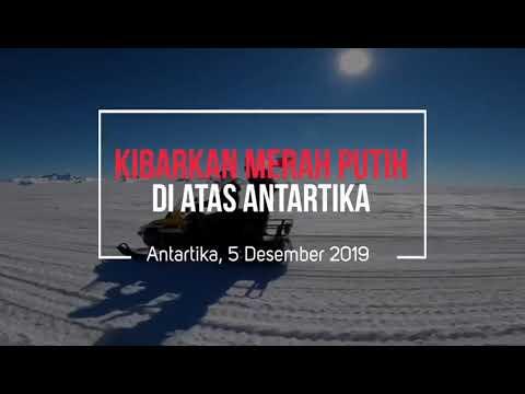 MURI: Pengibaran Bendera Merah Putih Di Ketinggian 13.500 Kaki di Atas Antartika