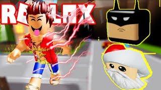 Roblox - Anh Hùng The Flash Nhận Pet Batman Và Pet Santa | Dashing Simulator