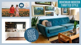 Bohemian Modern Thrifted Style | Lauras House Tour | Mid Century Modern | The Recycled Life