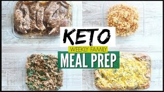 🔥NEW! FRUGAL KETO FAMILY MEAL PREP FOR THE WEEK ● BATCH COOKING LIKE A BOSS! ● KETO MEAL PREP IDEAS