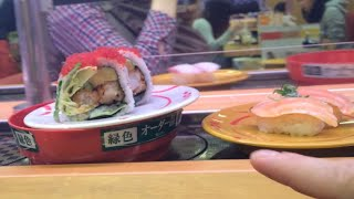 How to order, eat and pay for sushi in Japan (at a conveyor belt sushi restaurant)