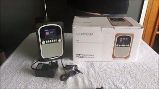 LEMEGA M1 DAB/DAB+/FM Radio Bluetooth  Portable Speaker UNBOXING, & TEST & REVIEW