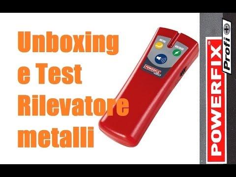 Unboxing e Test Rilevatore metalli e cavi Powerfix by Paolo Brada DIY