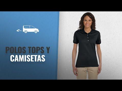 10 Mejores Polos Tops Y Camisetas 2018: Jerzees Ladies' 5.6 oz., 50/50 Jersey Polo with SpotShield