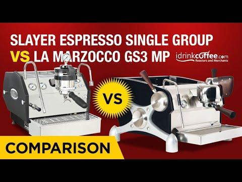iDrinkCoffee.com Comparison - Slayer Espresso Single Group vs La Marzocco GS3 MP
