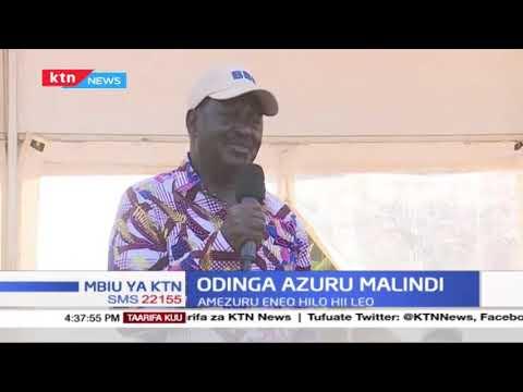 Raila azuru eneo la Malindi na kupigia debe mswada wa BBI | Mbiu Ya KTN