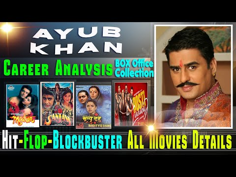 Ayub Khan Box Office Collection Analysis Hit and Flop Blockbuster All Movies List.