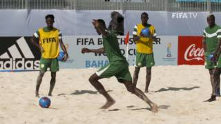 Yannick Bolasie visits FIFA Beach Soccer World Cup 2017