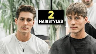 Mens Haircut - 2 Fall Hairstyles   Textured Fringe & Messy Quiff   BluMaan 2018