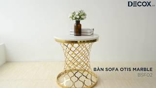 [Decox.vn] Bàn Sofa Otis Marble – BSF02