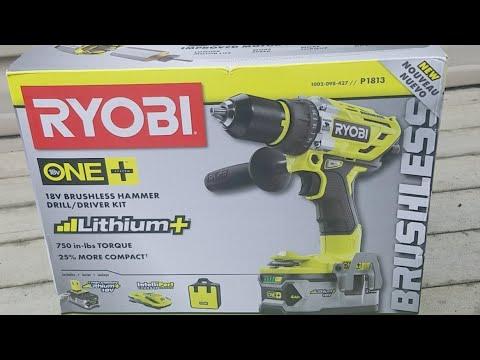 Ryobi 18v Brushless Hammer Drill Review/Unboxing (P1813)