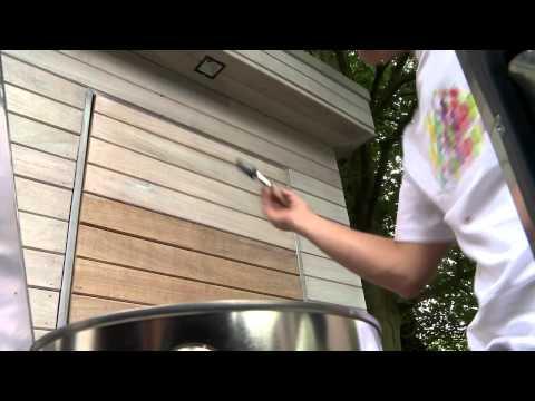 Tuinhuis beitsen met transparante afwerking | XYLADECOR