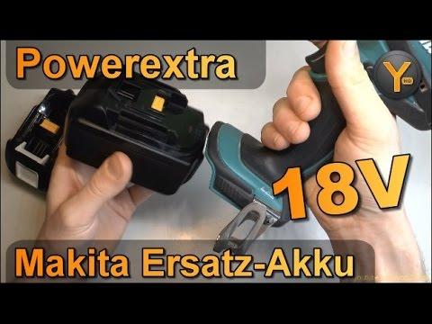 Kurztest: Poweradd 18V Ersatz-Akkus für Makita Akku-Bohrmaschinen
