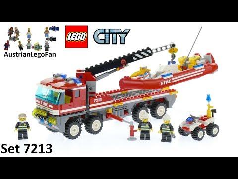 Vidéo LEGO City 7213 : Le camion tout-terrain et le bateau des pompiers