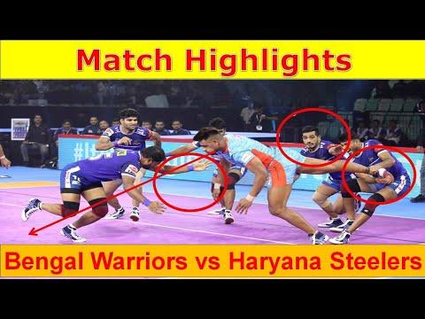 Haryana steelers vs Bengal warriors full match highlights Vivo Pro Kabaddi highlights