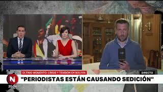 EVACUARON a PERIODISTAS ARGENTINOS en BOLIVIA - Telefe Noticias