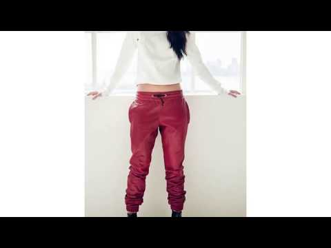 Leather Jogger Pants Womens