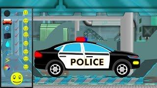 police car  police car repair  car garage  car repair  kids videos