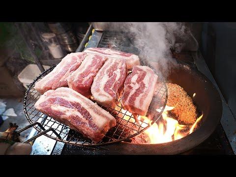 BEST! Korean BBQ Samgyeopsal(Grilled Pork Belly) – Korean street food