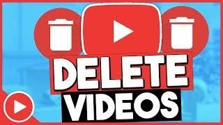 How To Delete YouTube Videos 2018 (EASY)