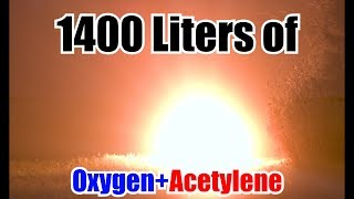 Weather Balloon Filled with Oxygen and Acetylene | HUGE EXPLOSION!!