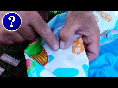 Как найти дыру и Заклеить надувной бассейн Ремонт надувного бассейна своими руками #КАК