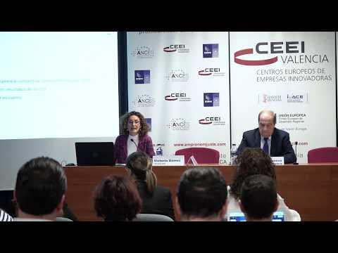 Victoria Gómez, de la AVI, en la jornada sobre ayudas y subvenciones de 2020 de CEEI Valencia[;;;][;;;]